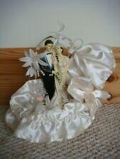 Vintage 1980's Large Wedding Cake Topper / Ornament