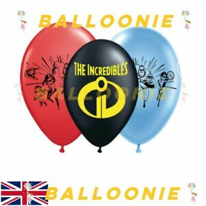 """12"""" THE INCREDIBLES Latex Balloons Birthday Party Decoration Kids.UK STOCK"""