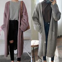 Women's Long Sleeve Knitted Loose Cardigan Sweater Outwear Coat Jacket Plus Size