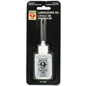 Hoppes Lubricating Oil 14.9 ml Bottle w/Needle Thin Extra Long Steel Spouts 3060