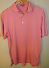 Men's Pink Peter Millar Summer Comfort Polo Shirt Golf Size Small