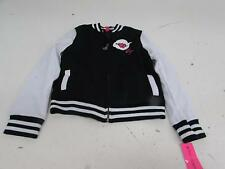 Betsey Johnson Big Girls' Girly Varsity Jacket, Black, Large BJ31054