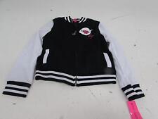Betsey Johnson Big Girls' Girly Varsity Jacket, Black, Large BJ31054