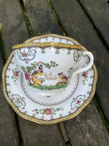 Spode Copeland China Cup Saucer Chelsea Pattern Exotic Birds
