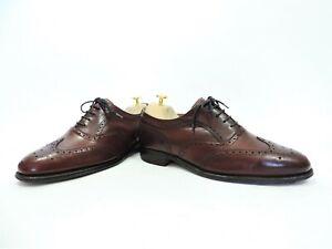 Church's Cheaney Mens Shoes Brogues Tan Burgundy UK 7 F US 8 E 41 International