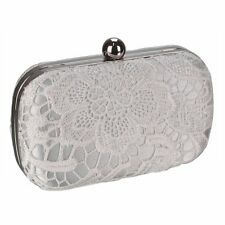 Ivory Lace Clutch Bag Wedding Prom Party Bridal Evening Handbag New