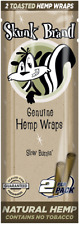 Skunk Brand -- Genuine Hemp Wraps --  5 Packs of 2 (10 Total Wraps) -- NEW ITEM!