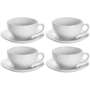 4er Set Cappuccinotassen WHITE BASICS ROUND 300ml weiß Maxwell & Williams