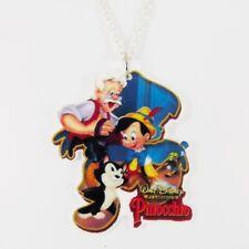 Collar Pinocho del & Geppeto marioneta Pepito Grillo Figaro cubierta de Disney Lindo