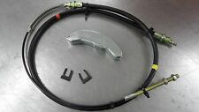 NEW JEEP CJ7 FRONT EMERGENCY BRAKE CABLE W/EQUALIZER BRACKET & CLIPS-1976-1986