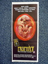 PROPHECY Original 1970s Horror Daybill Movie Poster Talia Shire, Armand Assante