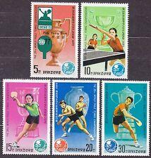KOREA Pn. 1979 MNH** SC#1797/801 set, 35th World Table Tennis Championships, ...
