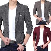 Fashion Men Casual Slim Fit One Button Velvet Suit Blazer Coat Jacket Stylish UK