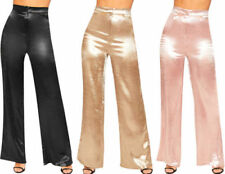 Polyester High Metallic Trousers for Women