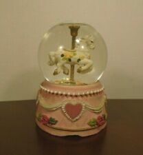 """Carousel Horse Electronic Musical Snow Globe Plays Beethoven's """"Fur Elise"""" 4"""""""