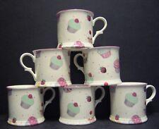 Set Of 6 Cup Cake English Fine Bone China Chintz Mugs Cup Beaker By Milton China