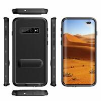 Waterproof Case For Samsung Galaxy S10 Plus Shockproof with Built-in Kickstand