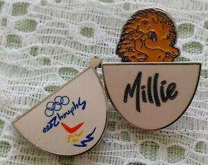 2000 Sydney Olympic Pin Millie Egg Rotating