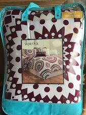 Vortex 2 Piece Reversible Comforter Set Twin Cotton
