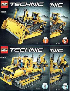 LEGO® Technic BAUANLEITUNG für 42028 Bulldozer Kettenraupe  NEU ONLY INSTRUCTION