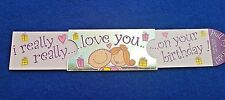 I LOVE YOU  LUXURY PULL OUT STAND UP BIRTHDAY GREETING card + envelope NEW RRP£5