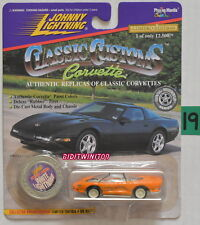 Johnny Lightning 1995 Corvette Stingray ZR-1 Blanc Lightning Orange Avec +
