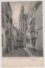 Spain postcard - Sevilla, Vista de la Giralda desde la Calle de Mateos Gago
