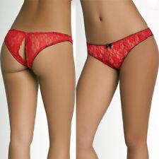 Donna Sexy pizzo apertura INFERIORE perizoma lingerie tanga mutandine
