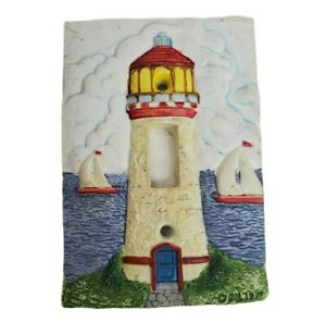 Light Switch Plate Outlet Cover Beach Ocean Coast Decor Lighthouse Vacation Home
