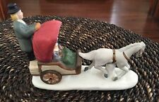 LEMAX 1991 Dickensvale Collection Porcelain Horse & Carriage # 13011-Excellent