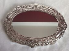 Handmade Peruvian 950 Sterling Silver Hanging & Dresser Mirror Plateau tray