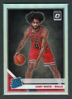 2019-20 COBY WHITE PANINI DONRUSS OPTIC SILVER HOLO RATED ROOKIE RC #180