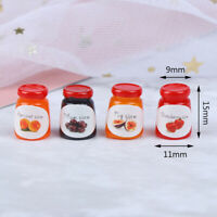 4Pcs/Set 1:12  Kitchens Dollhouse Accessories 4Bottles Jams Doll House FooQA