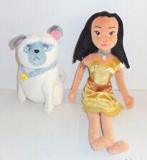 Disney Store Pocahontas Plush Doll Lot Set Dog Percy EUC P93