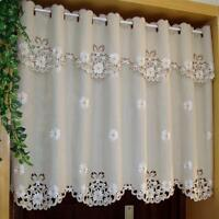 Window Treatment Curtains Valance Floral Pattern Embroidered Classic Room Decors