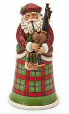Jim Shore Christmas Scottish Santa Bagpipes Celtic Figurine Heartwood Creek 6.75