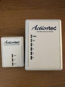 Actiontec 500 Mbps Powerline Ethernet Adapter Set 4 Port Port PWR504 and PWR500