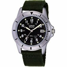 Lorus Gents 100m Date Watch on Green Strap RXH001L9 Our