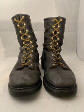 JOHN DEERE Men's Dark Brown Safety Logger Work Boots Size US 10 UK 9.5 EU 44