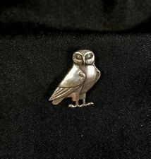 RARE James Avery Owl 1 1/8'' Pin/Brooch Pre-Owned