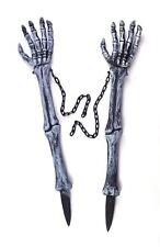 Mano de esqueleto estacas de césped, Cementerio De Halloween PROPULSOR, Decoración Fiesta De Disfraces