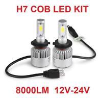 H7 COB LED Headlight Kit 100w Canbus 8000 Lumen 6500k Bright White 2 x Bulbs