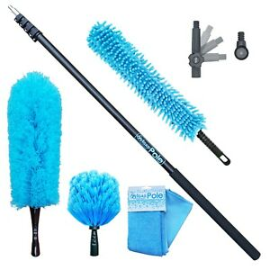 IGADPole 2m to 7m Extension Pole with Microfiber, Cobweb, Chenille Duster