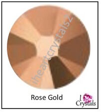 ROSE GOLD 12 pieces Swarovski 34ss 7mm Crystal 2088 Xirius Flatback Rhinestones