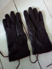 Dents Brown Leather Gloves Size 6 1/2