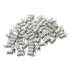 75 Leder Schnur Abschlusskappe Halskette Verschluss Schmuck Teile S4K8