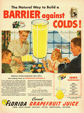 1947 vintage AD, Florida Canned Grapefruit Juice, Fight Colds! -041114