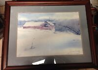 """Donald Voorhees Lithograph """"snowbound"""" Signed And Numbered With COA Dated. 1985"""