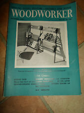 WOODWORKER October 1959 ~ Retro Vintage Illustrated Magazine + Advertising