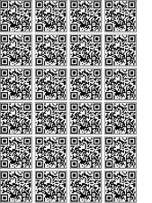 Personalizzata codice QR cup cake carta di riso Decorazioni Per Foto x 24 * lo stesso giorno POST